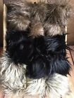 Faux Fur Pom Pom Black Grey Husky Silver Fox for Hats Keychains Craft Project