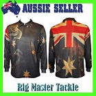 AUSSIE FLAG Australia Day Fishing Shirt SPF50+ Exclusive to Rig Master Tackle