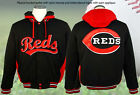 AUTHENTIC MLB CINCINNATI REDS FLEECE REVERSIBLE HOODED JACKET JH DESIGN BNWT NEW on Ebay