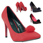 LADIES WOMENS STILETTO HIGH HEEL COURT SHOES PARTY EVENING FASHION GIRLS PUMPS