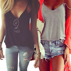 Fashion Women Summer Vest Tops Sleeveless Shirt Blouse Casual Tank Top T-ShirtLA