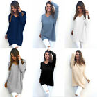Casual Women's V-Neck Long Sleeve Knit Stretch Loose Plush Sweater Tops Blouse