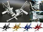 Adjustable Rearsets Foot Rest Pegs Set For TRIUMPH Speed Triple 509 595 955 1050