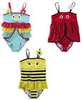 Girls Novelty Swimsuit Choose From Bumble Bee Ladybird or Tropical Bird