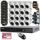 16ch Hikvision DVR & 10, 12 or 16 x 20m Nightvision HD-TVI Turret Dome Cameras
