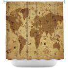 DiaNoche Designs Whimsical World Map Shower Curtain