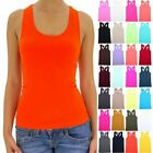 Seamless Basic Racerback Ribbed Scoop Neck Stretchable Tank Top Casual ONE SIZE