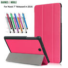 2016 Barnes & Noble Nook Tablet 7 inch Case Ultra Slim Trifold PU Leather Cover