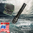 X800 Tactical LED Flashlight CREE XM-L2 Torch Light Super Bright + Charger+18650