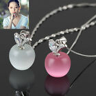 1 x Fashion Women Lady Clavicle Necklace with apple Opal Pendant Jewellery TB