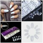 New! BALLERINA COFFIN Full Cover *NATURAL* Nail Tips! **YOU CHOOSE QTY!**