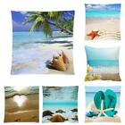 Beauty Sea Sunset Wave Beach Sand Cotton Soft Cushion Throw Pillow Case Cover HF