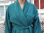Vintage-Style Traditional Cotton-Chenille Long Wrap Robe Bathrobe Made in USA