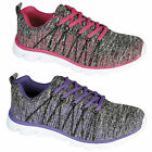 Ladies Running Trainers Womens Gym Contrast Jogging Girls ACTIVE Sports Shoes