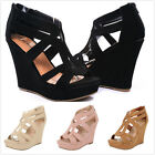 New Women's Fashion Gladiator Strappy High Heel Platform Wedge Sandals Shoes