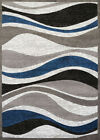 United Weavers Blue Waves Lines Curves Contemporary Area Rug Striped 710-00761