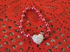Doll FUN JEWELRY Necklace  handmade for Barbie- hot pink/ heart