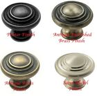 34MM KNOB HANDLES FOR KITCHEN CABINETS PEWTER, BRASS OR NICKEL FINISH + SCREWS