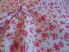 Pink roses on pink floral fabric 100% cotton in fat quarter half metre and metre