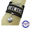 MILWAUKEE BREWERS Leather Woven Bracelet *FREE SHIPPING8* on Ebay