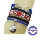 TORONTO BLUE JAYS MLB Braided Leather Bracelet - SHIPS FREE! on Ebay