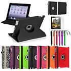 For iPad 4th 3rd 2nd Gen 4/3/2 Rotating Color Magnetic Case Cover Stand+Film/Pen