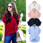 CHIC New Women Chiffon Casual Short Sleeve Top Loose Summer T Shirt Tops Blouse