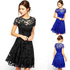 2017 Womens Floral Lace Prom Cocktail Party Evening Ladies Short Dress Size S~XL