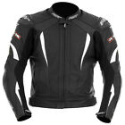 RST Motorcycle 1068 R-16 Mens Leather Jacket White