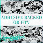 Black & Grey Digital Camo Pattern Adhesive Vinyl or HTV for Crafts or Shirts!