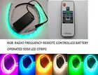 9V  SWITCHED BATTERY OPERATED RF REMOTE CONTROLLED 5050 RGB  LED STRIP
