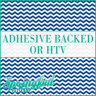 Royal Blue & White Chevron Pattern #1 Adhesive Vinyl or HTV for Crafts Shirts