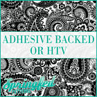 Black & White Paisley Pattern Adhesive Craft Vinyl or HTV for Crafts or Shirts!