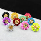New Design Fashion Elegant Jewelry Big Flowers Stud Earrings for Women Girl Lady