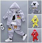 3pcs Baby Clothes kids boys fall soft cotton outfits tracksuit coat &Tee &pants