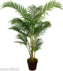 Best Artificial 120cm 1.2m ARECA palma Tropical Ufficio PIANTA Veranda New