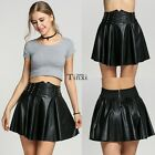 Autumn Winter Women Fashion Punk Style Rivet Synthetic Leather Short Mini TXCL