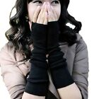 Unisex Ladies Womens Trendy Winter Fingerless Gothic Arm Warmers cotton Gloves