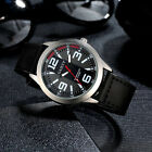 Retro Luxury Men's Watch Stainless Steel Leather Analog Quartz Sport Wriswatches