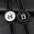 Fashion Womens Men Stainless Leather Band Wrist Watch Classic Quartz Lovers Gift