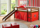 Donco Kids Tent Twin Low Loft Bed with Slide