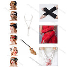 Gatsby Flapper Dress 1920s Accessories Costumes Headband Necklace Gloves Holder