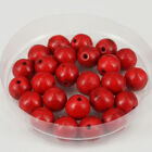 """4mm/6mm/8mm/12mm Red Turquoise Round Gemstone Loose Beads DIY Jewelry Making 15"""""""