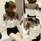 Fashion Women Long Sleeve Shirt Casual Lace OL Blouse Tops T Shirts Slim
