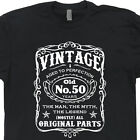 50th Birthday T Shirt Vintage 1967 Tshirt Aged To Perfection Old Fart Mens Tee