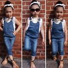 2pcs Toddler Kids Set Short Sleeve T-shirt+Bibs Pants Summer Fashion Outfits New