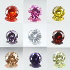 5mm~12mm Faceted Round Cubic Zirconia Loose Zircon Bead DIY Jewelry 1PC