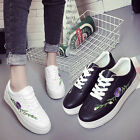Fashion Sneakers Womens embroidery lace up platform shoes leisure school Sport