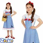 Girls Dorothy Fancy Dress Costume Fairytale Character Oz Kids Book Week Outfit