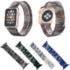 Camo Mesh Replacement Strap Milanese Loop Magnetic Buckle Watch Band for iWatch